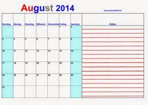 Syria Kalender 2018 Kalander August 2014 With Notes Kalender 2016