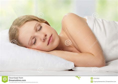 woman sleeping in bed beautiful young woman sleeping in bed stock photography