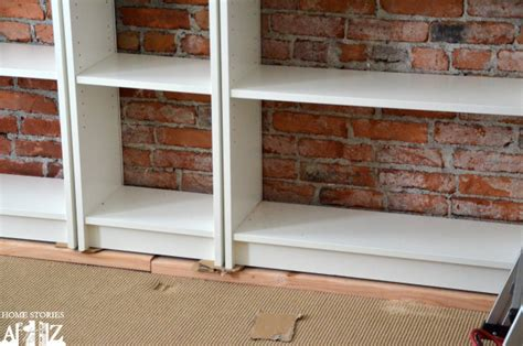 Ikea Kitchen Cabinet Shelves by Ikea Hack Billy Built In Bookshelves Part 1 Home