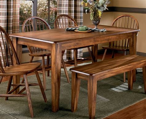 Country Style Dining Table With Bench Best Wooden Country Style Dining Table And Chairs