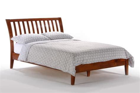 curved platform bed modernmist limited nutmeg bed
