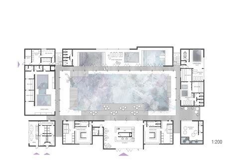 Beautiful House Floor Plans by Spa Amp Wellness Club B 178 Architecture