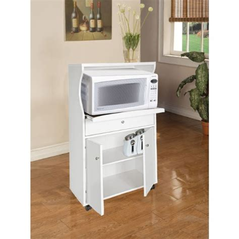 microwave cart with drawer white home source industries tif 10108 microwave stand white