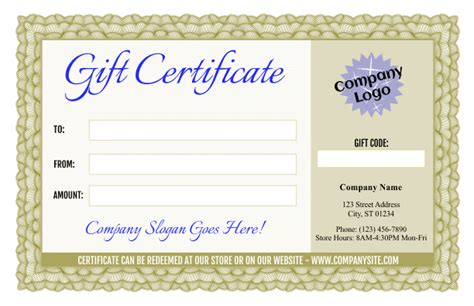 fancy certificate template formal gift certificate templates 3 and 4