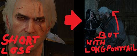witcher 2 hairstyle changer mod idea better hair cd projekt red forums