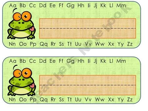 printable name tags for notebooks aplusacademics shop teachers notebook name tags frogs