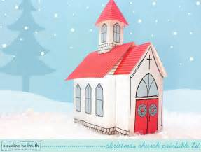 How To Make A Church Out Of Paper - make a paper church treat and cookie box