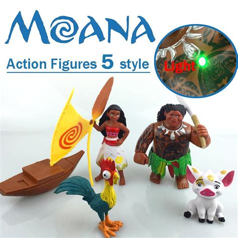 moana figures with boat 2017 moana movie action figures 5 style moana waialiki