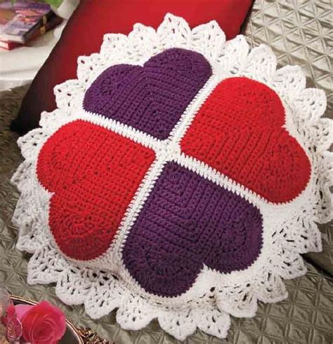 free crochet pattern heart pillow crochet heart pillow crochet kingdom
