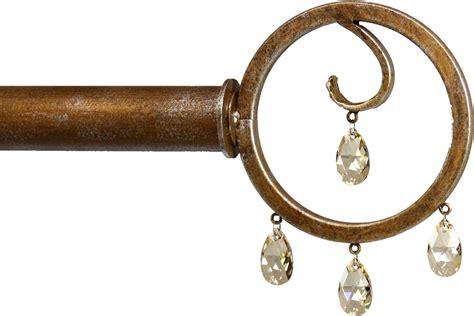 crystal drapery hardware crystal drop finials ona drapery hardware