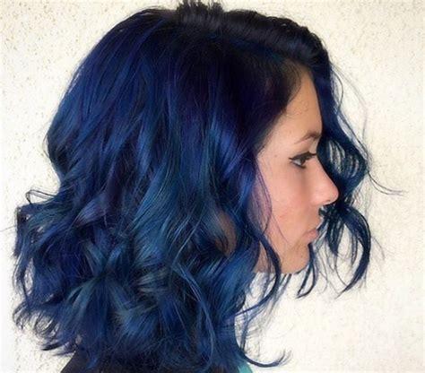 navy hair color navy blue hair 181 hairdare womensfashion hair