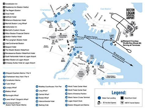 boston logan airport map boston water taxis fast affordable boston waterfront transportation