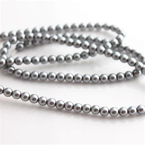 4mm silver 4mm silver glass pearl jewellery