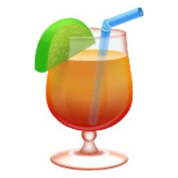 cocktail emoji tropical drink emoji u 1f379 u e044