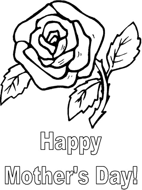 coloring pages of flowers for s day printable mothers day flower coloring page