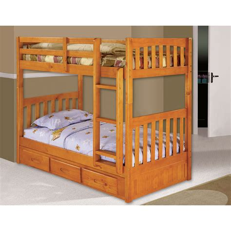 Bunk Bed With Trundle Braeburn Bunk Bed With Trundle 98912tttr Hn