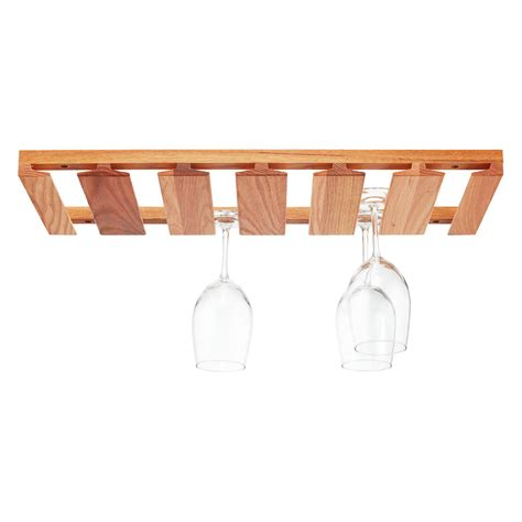 j k oak undercabinet wine glass rack the