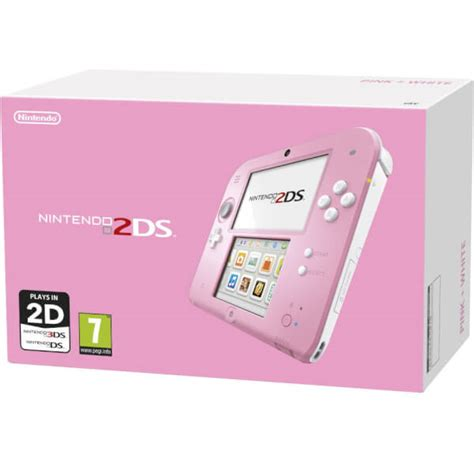 nintendo ds pink console nintendo 2ds console pink white nintendo official uk