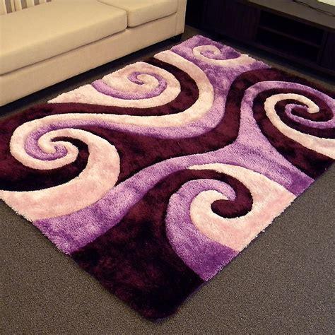 swirl area rug 3d shaggy 805 abstract swirl design purple color area rug