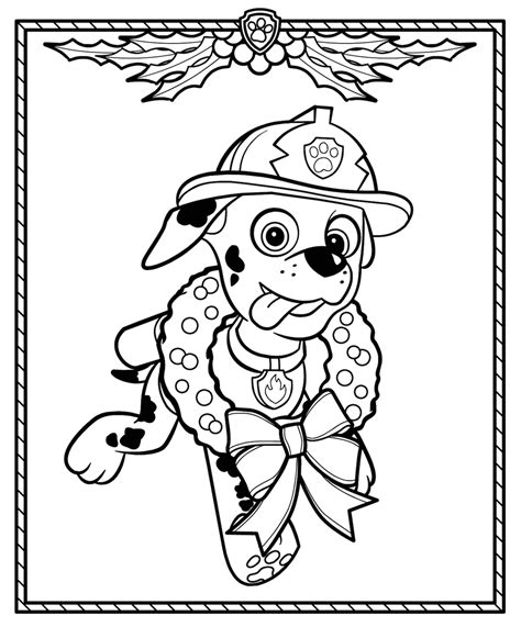 christmas coloring pages paw patrol christmas coloring pages