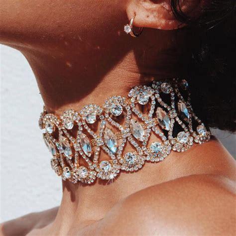 brautschmuck collier strass brautschmuck luxus diamant choker strass halskette