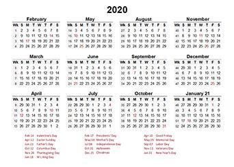 accounting calendar     printable templates