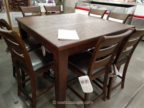 costco counter height dining table universal furniture 9 counter height dining set