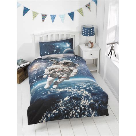glow in the dark bedding kids glow in the dark single duvet set space walker