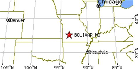 missouri map bolivar bolivar missouri mo population data races housing