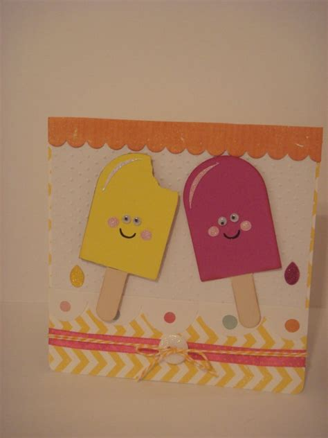 Popsicle Card Template by 35 Best Images About Simply Charmed Cricut Cards On