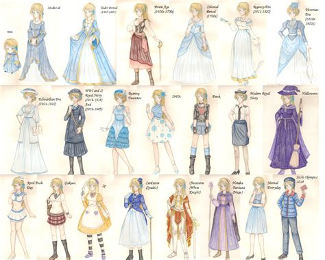 fashion illustration through the years fashion through the ages extras by of underland on deviantart