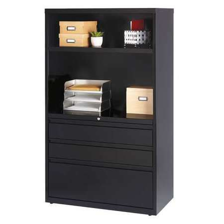 hirsh lateral file cabinet black 60 in h 19627 zoro
