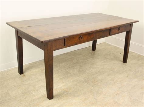 Dining Table With Drawers Antique Two Drawer Cherry Dining Table At 1stdibs