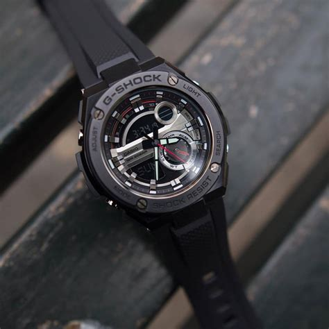 Jam Casio G Shock Gst 210 Hitam Model Terbaru g shock 2nd generation g steel gst 210