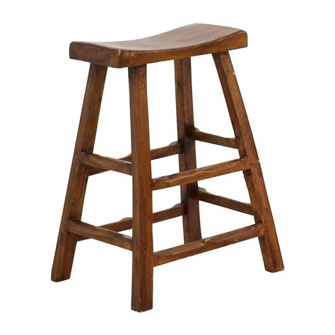 saddle bench stool 55 off rustic wood saddle seat counter stool chairs