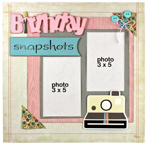scrapbook layout for many pictures birthday snapshots scrapbook layout pazzles craft room
