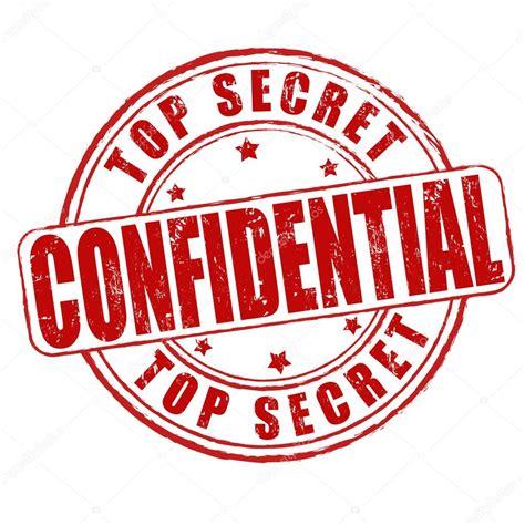 confidential rubber st top secret confidential st stock vector