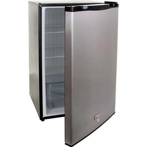 Mini Fridge With Locking Door Blaze 4 1 Cu Ft Stainless Steel Compact Refrigerator