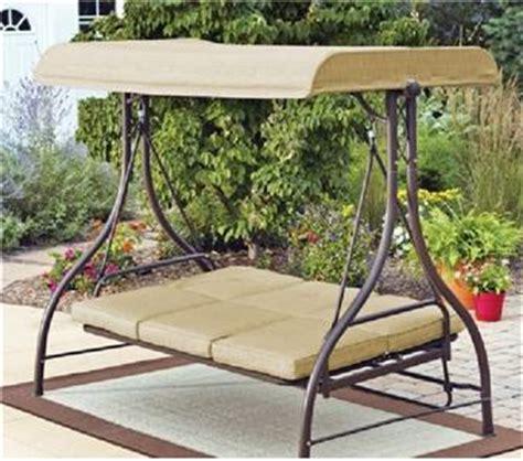 outdoor 3 seater swing hammock glider canopy ebay