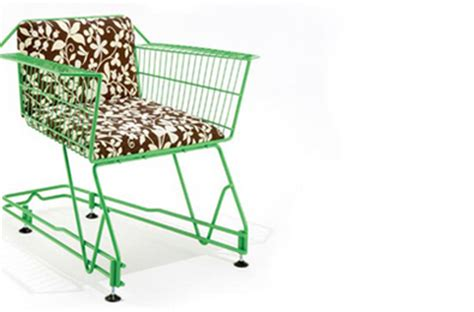 Shopping Chair by Recycled Shopping Cart Chair Interior Design Worldofgood
