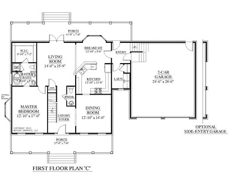 First Floor Master Bedroom Floor Plans by Southern Heritage Home Designs House Plan 2341 C The