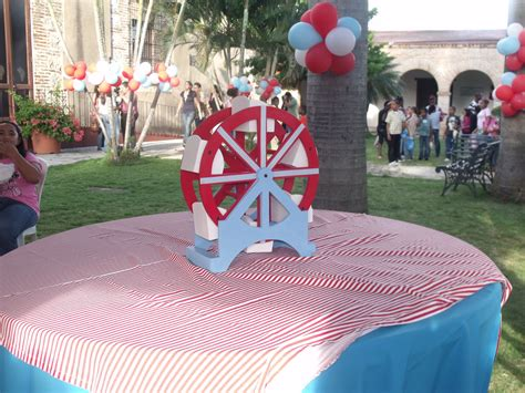 ferris wheel centerpiece hand painted to match party