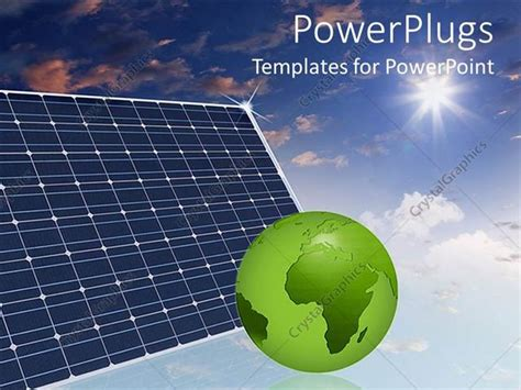 Powerpoint Template Eco Friendly Solar Panels In The Sky Solar Panel Powerpoint Template