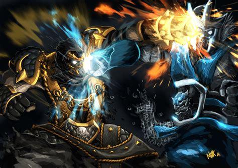 imagenes de scorpion vs sub zero scorpion vs subzero mortal kombat tribute by pematungwan