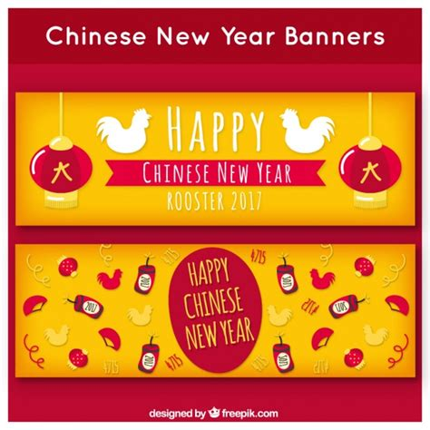 free vector new year banner yellow new year banners vector free