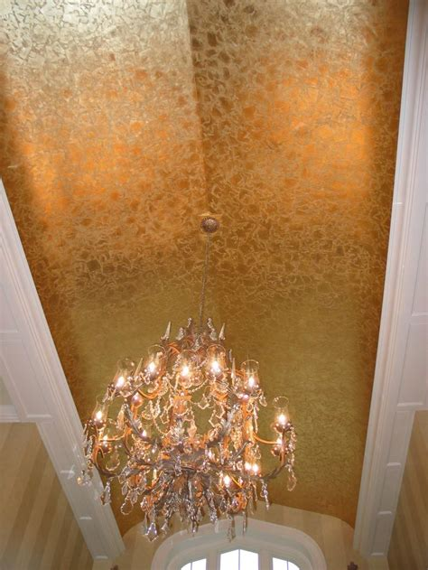 random pattern gold leaf ceiling fabulous faux
