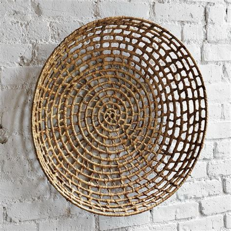 Wicker Wall Decor by Decorating Home With Ethnic Wicket Dishes And Bowls