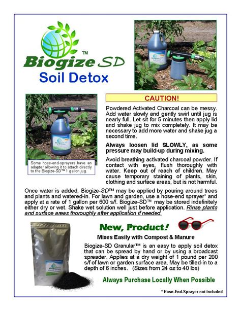 Detox Soil by Biogize Sd Soil Detox In Easy To Use Mix N Pour Container