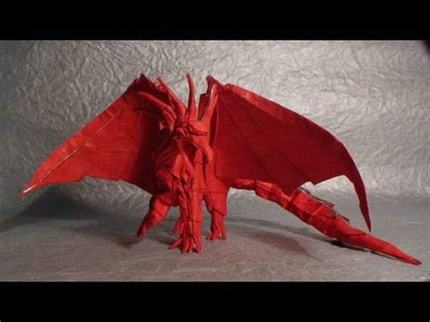 dragon origami tutorial easy ancient dragon origami tutorial youtube