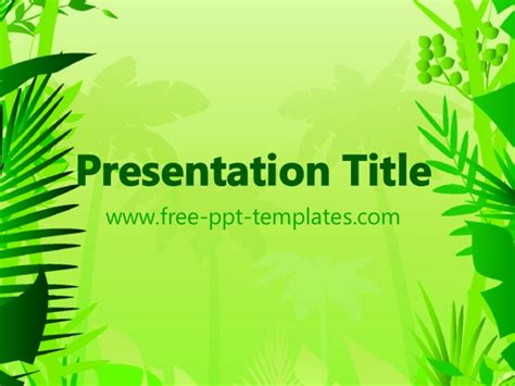 powerpoint templates jungle free jungle ppt template